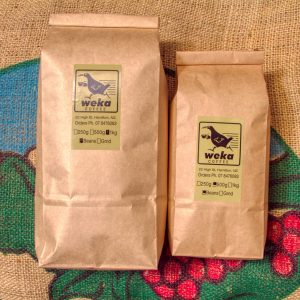 Picture of Weka coffee 1kg and 500g bags