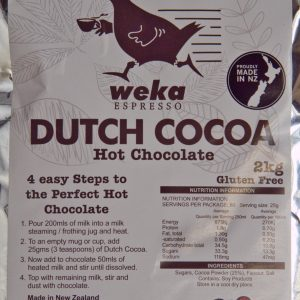 Dutch Cocoa Label Closeup